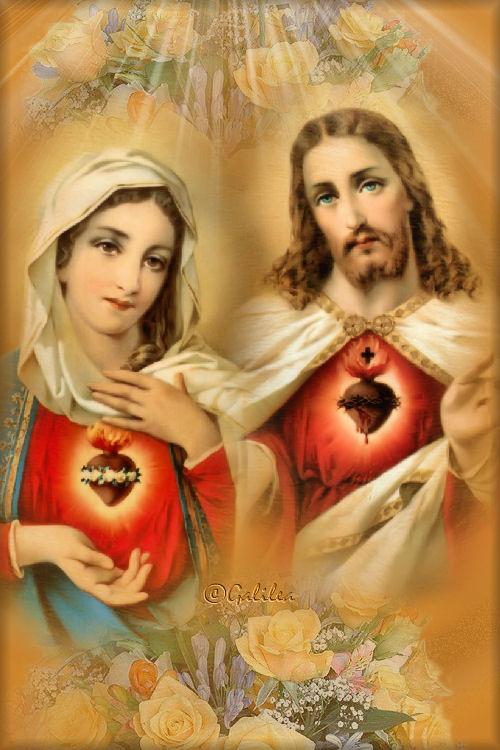 Oración al Sagrado Corazón de Jesús y María por la familia